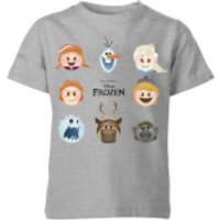 Frozen Emoji Heads Kids' T-Shirt - Grey - 11-12 Years - Grey - Kids Gifts