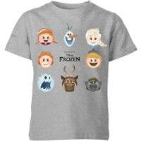 Disney Frozen Emoji Heads Kids' T-Shirt - Grey - 11-12 Years - Grey - Kids Gifts