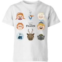 Disney Frozen Emoji Heads Kids' T-Shirt - White - 5-6 Years - White
