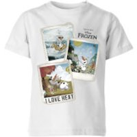 Die Eiskönigin Olaf Polaroid Kinder T-Shirt - Weiß - 3-4 Jahre - Weiß