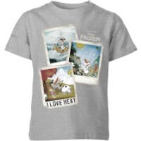 Die Eiskönigin Olaf Polaroid Kinder T-Shirt - Grau - 3-4 Jahre - Grau