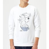 Disney Frozen Elsa Sketch Strong Sweatshirt - White - XXL - White - Elsa Gifts