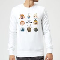 Frozen Emoji Heads Sweatshirt - White - M - White