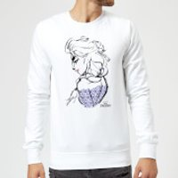 Disney Frozen Elsa Sketch Sweatshirt - White - XXL - White - Elsa Gifts