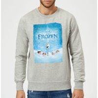 Disney Frozen Snow Poster Sweatshirt - Grey - S - Grey