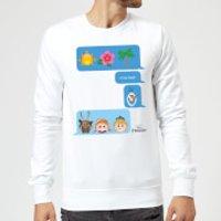 Disney Frozen I Love Heat Emoji Sweatshirt - White - S - White