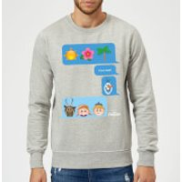 Disney Frozen I Love Heat Emoji Sweatshirt - Grey - S - Grey