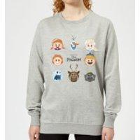 Disney Frozen Emoji Heads Women's Sweatshirt - Grey - L - Grey