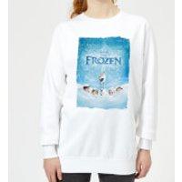 Frozen Snow Poster Women's Sweatshirt - White - 5XL - White - Snow Gifts