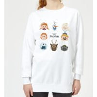 Frozen Emoji Heads Women's Sweatshirt - White - S - White