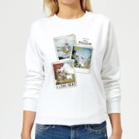 Die Eiskönigin Olaf Polaroid Damen Pullover - Weiß - S - Weiß