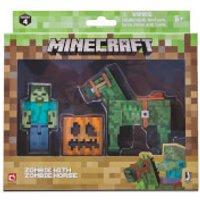 Minecraft Zombie with Zombie Horse Set