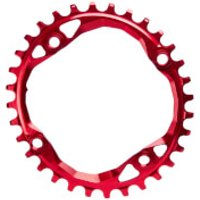 AbsoluteBLACK Shimano Oval MTB Chainring - 30T - 4 Bolt 104BCD - Red