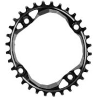 AbsoluteBLACK Shimano Oval MTB Chainring - 28T - 4 Bolt 64BCD - Black
