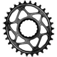 AbsoluteBLACK RaceFace Cinch Direct Mount Oval MTB Chainring - 26T - 6mm Offset - Black