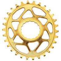AbsoluteBLACK RaceFace Cinch Direct Mount Oval MTB Chainring - 30T - 6mm Offset - Gold
