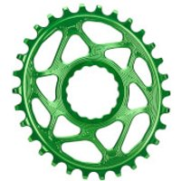 AbsoluteBLACK RaceFace Cinch Direct Mount Oval MTB Chainring - 28T - 6mm Offset - Green