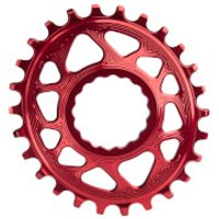 AbsoluteBLACK RaceFace Cinch Direct Mount Oval MTB Chainring - 30T - 6mm Offset - Red