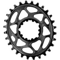 AbsoluteBLACK SRAM GXP Direct Mount Oval MTB Chainring - 28T - 6mm Offset - Black