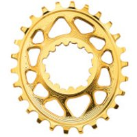 AbsoluteBLACK SRAM GXP Direct Mount Oval MTB Chainring - 34T - 6mm Offset - Gold