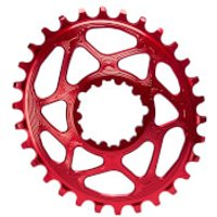 AbsoluteBLACK SRAM GXP Direct Mount Oval MTB Chainring - 34T - 6mm Offset - Red