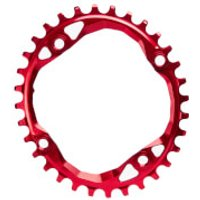 AbsoluteBLACK Round MTB Chainring - 28T - 64BCD - Red