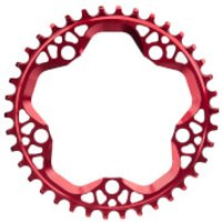AbsoluteBLACK Round CX Chainring - 38T - 5 Bolt 110BCD - Red