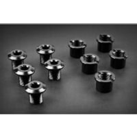 AbsoluteBLACK Chainring Bolts - 4 Pack - long - Black