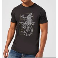 Harry Potter Dragon Line Art Men's T-Shirt - Black - XXL - Black - Dragon Gifts