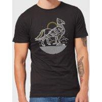 Harry Potter Buckbeak Line Art Men's T-Shirt - Black - XXL - Black