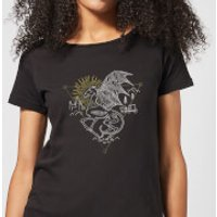 Harry Potter Thestral Line Art Women's T-Shirt - Black - XL - Black