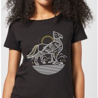 Harry Potter Buckbeak Line Art Women's T-Shirt - Black - L - Black