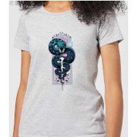 Harry Potter Neon Basilisk Women's T-Shirt - Grey - XL - Grey