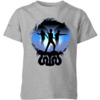 Harry Potter Silhouette Attack Kids' T-Shirt - Grey - 9-10 Years - Grey