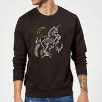 Harry Potter Unicorn Line Art Sweatshirt - Black - 3XL - Black