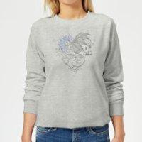 Harry Potter Thestral Line Art Women's Sweatshirt - Grey - XXL - Grey