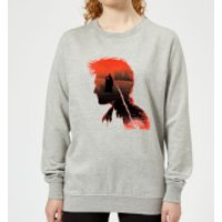 Harry Potter Harry Silhouette Battle Women's Sweatshirt - Grey - L - Grey