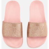 Superdry Women s Superdry Pool Slide Sandals   Blush Pink Glitter   L UK 7 8   Pink