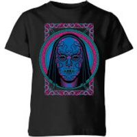 Harry Potter Neon Death Eater Mask Kids' T-Shirt - Black - 11-12 Years - Black - Neon Gifts