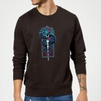 Harry Potter Neon Basilisk Sweatshirt - Black - S - Black