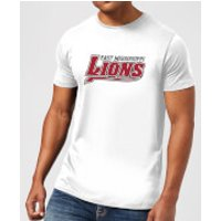 East Mississippi Community College Lions Script Logo Men's T-Shirt - White - L - White