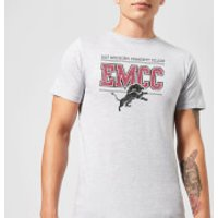 East Mississippi Community College Lions Distressed Men's T-Shirt - Grey - 3XL - Grey