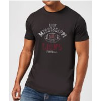 East Mississippi Community College Lions Football Distressed Men's T-Shirt - Black - XXL - Black - Football Gifts
