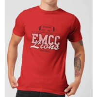 East Mississippi Community College Lions Distressed Men's T-Shirt - Red - XXL - Red