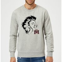 East Mississippi Community College Lion Head and Logo Sweatshirt - Grey - 5XL - Grey - College Gifts