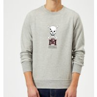East Mississippi Community College Skull and Logo Sweatshirt - Grey - 5XL - Grey - College Gifts