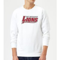 East Mississippi Community College Lions Script Logo Sweatshirt - White - 5XL - White - College Gifts