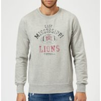 East Mississippi Community College Lions Distressed Football Sweatshirt - Grey - XXL - Grey - Football Gifts