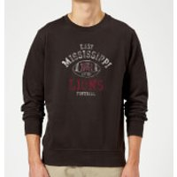 East Mississippi Community College Lions Football Distressed Sweatshirt - Black - 5XL - Black - College Gifts