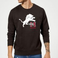East Mississippi Community College Lion and Logo Sweatshirt - Black - 5XL - Black - College Gifts